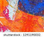 abstract painting backdrop on... | Shutterstock . vector #1291190032