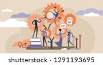 sociology vector illustration.... | Shutterstock .eps vector #1291193695
