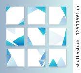 blank abstract design banner... | Shutterstock .eps vector #1291199155