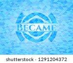 became sky blue emblem with... | Shutterstock .eps vector #1291204372