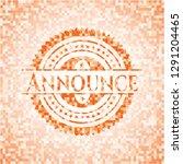 announce abstract emblem ... | Shutterstock .eps vector #1291204465
