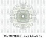 green abstract linear rosette | Shutterstock .eps vector #1291212142