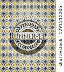 runner up arabic badge.... | Shutterstock .eps vector #1291212205