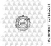 printer icon inside grey badge... | Shutterstock .eps vector #1291212295