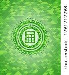calculator icon inside green... | Shutterstock .eps vector #1291212298