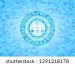 flowchart icon inside light... | Shutterstock .eps vector #1291218178