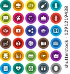 white solid icon set  attention ... | Shutterstock .eps vector #1291219438