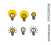 icon light bulb simple  with... | Shutterstock .eps vector #1291220518