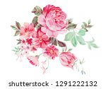 a bouquet of tiny floral... | Shutterstock . vector #1291222132