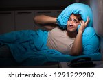young handsome man suffering... | Shutterstock . vector #1291222282