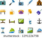 color flat icon set  ...   Shutterstock .eps vector #1291226758
