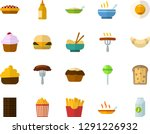 color flat icon set   cake flat ...   Shutterstock .eps vector #1291226932