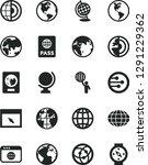 solid black vector icon set  ... | Shutterstock .eps vector #1291229362