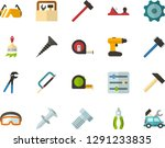 color flat icon set   settings... | Shutterstock .eps vector #1291233835