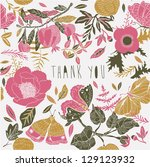 thank you card | Shutterstock .eps vector #129123932