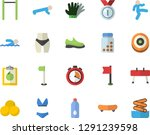 color flat icon set gloves flat ... | Shutterstock .eps vector #1291239598