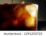 close up of carbonated drink  ... | Shutterstock . vector #1291253725