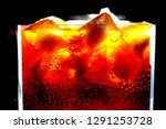 close up of carbonated drink  ... | Shutterstock . vector #1291253728