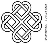 ancient symbol  the love knot... | Shutterstock .eps vector #1291254235