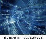 abstract digital art background.... | Shutterstock . vector #1291259125