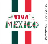 viva mexico  national mexican... | Shutterstock .eps vector #1291270102