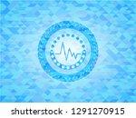 electrocardiogram icon inside... | Shutterstock .eps vector #1291270915