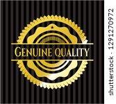 genuine quality shiny badge | Shutterstock .eps vector #1291270972