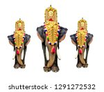 kerala elephant white background | Shutterstock . vector #1291272532