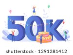 thanks for the first 50000... | Shutterstock .eps vector #1291281412