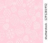 easter eggs composition hand... | Shutterstock .eps vector #1291281952