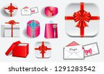 set of various realistic... | Shutterstock .eps vector #1291283542