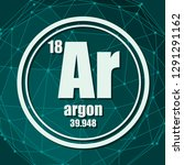 argon chemical element. sign... | Shutterstock .eps vector #1291291162