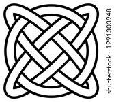 celtic knot symbol eternal life ... | Shutterstock .eps vector #1291303948