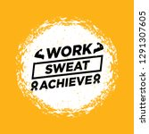 work   sweat   archieve.... | Shutterstock .eps vector #1291307605