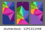 set fashionable abstract... | Shutterstock .eps vector #1291311448