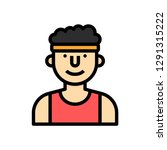 man runner concept line icon....
