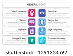 set of 8 white general icons... | Shutterstock .eps vector #1291323592