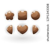 wooden set of different shapes  ...