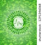 electrocardiogram icon inside... | Shutterstock .eps vector #1291346068