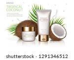 cosmetic realistic vector... | Shutterstock .eps vector #1291346512