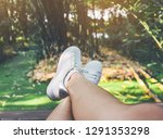 the legs of women wearing white ...   Shutterstock . vector #1291353298