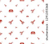 scissor icons pattern seamless...   Shutterstock .eps vector #1291355368