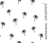 black and white beach seamless... | Shutterstock .eps vector #1291357075