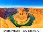 horseshoe bend is a horseshoe...   Shutterstock . vector #1291366072