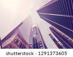 looking up at manhattan... | Shutterstock . vector #1291373605