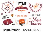 collection of valentines day... | Shutterstock .eps vector #1291378372