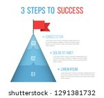 3 steps to success  infographic ... | Shutterstock .eps vector #1291381732
