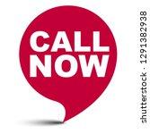 red vector bubble banner call... | Shutterstock .eps vector #1291382938