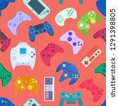 video game controller...   Shutterstock .eps vector #1291398805