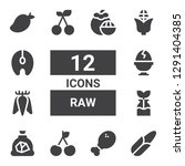 raw icon set. collection of 12... | Shutterstock .eps vector #1291404385